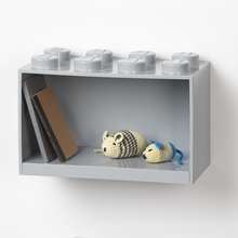 Laden Sie das Bild in den Galerie-Viewer, LEGO® Brick Regal mit 8 Noppen grau