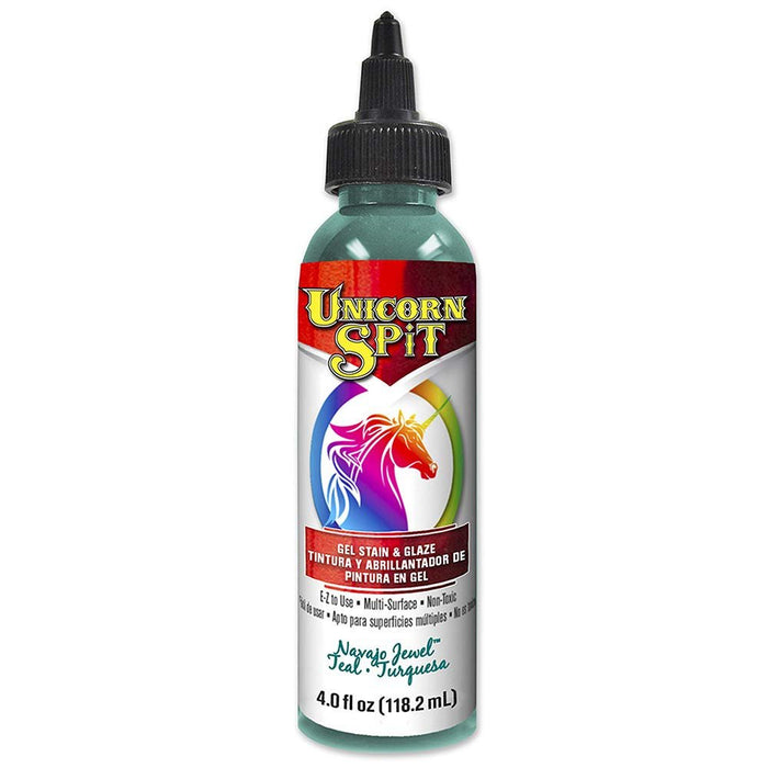 Unicorn SPiT 5770011 Gel Stain & Glaze, Navajo Jewel, 4 Ounce Bottle, Blue