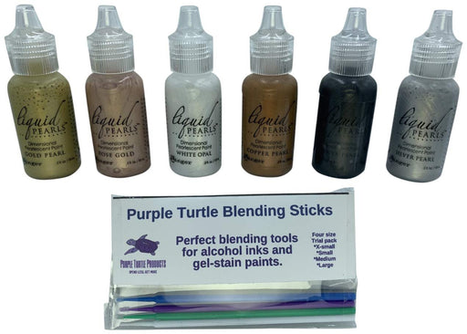 Ranger - Liquid Pearls Bundle includes Purple Turtle Blending Sticks