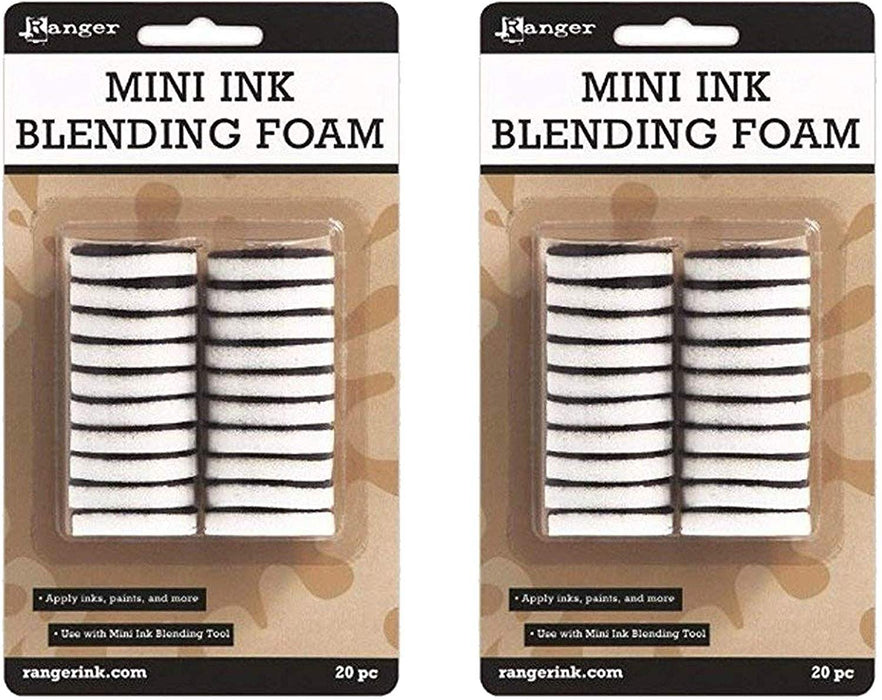 Ranger 1-Inch Ink Round IBT40965 Blending Replacement Foams, Mini, 20-Pack (2 pack)