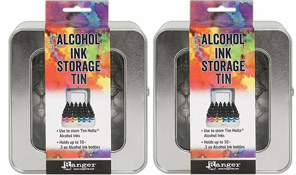 Tim Holtz Alcohol Ink Storage Tins - Pack of Two Tins