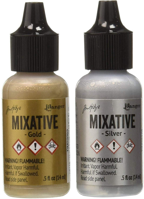 Tim Holtz - Ranger - Metallic Mixtatives - Silver and Gold
