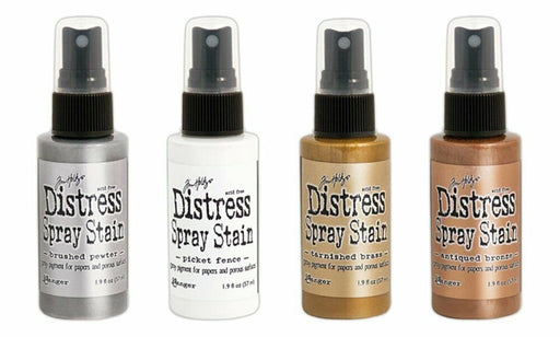 Ranger Tim Holtz Distress Spray Stains - Metallics and White - Four Items