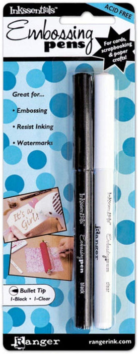 2-Pack - Ranger EMP20653 Inkssentials Embossing Pens, 2/Pack, Black And Clear