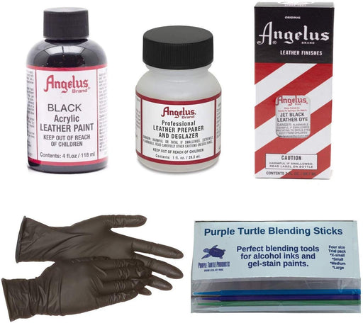 Angelus Leather Paint and Dye Kit with Purple Turtle Sticks