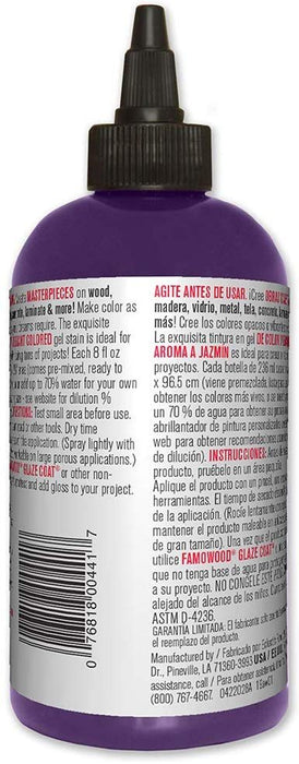 Unicorn SPiT 5771009 Gel Stain and Glaze, Purple Hill Majesty 8.0 FL OZ Bottle