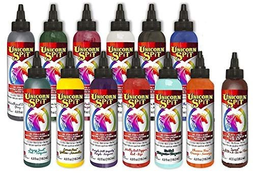 Unicorn SPiT Gel Stain & Glaze in One - 13 Paint Collection- 4oz - Includes...