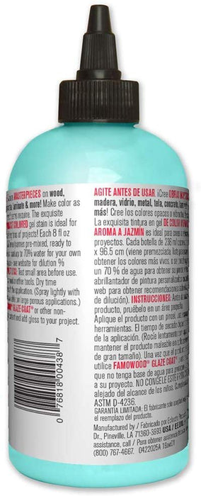 Unicorn SPiT 5771006 Gel Stain and Glaze, Zia Teal 8.0 FL OZ Bottle