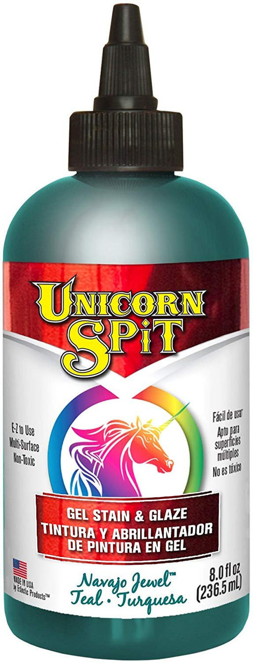 Unicorn SPiT 5771011 Gel Stain & Glaze, Navajo Jewel, 8 Ounce Bottle