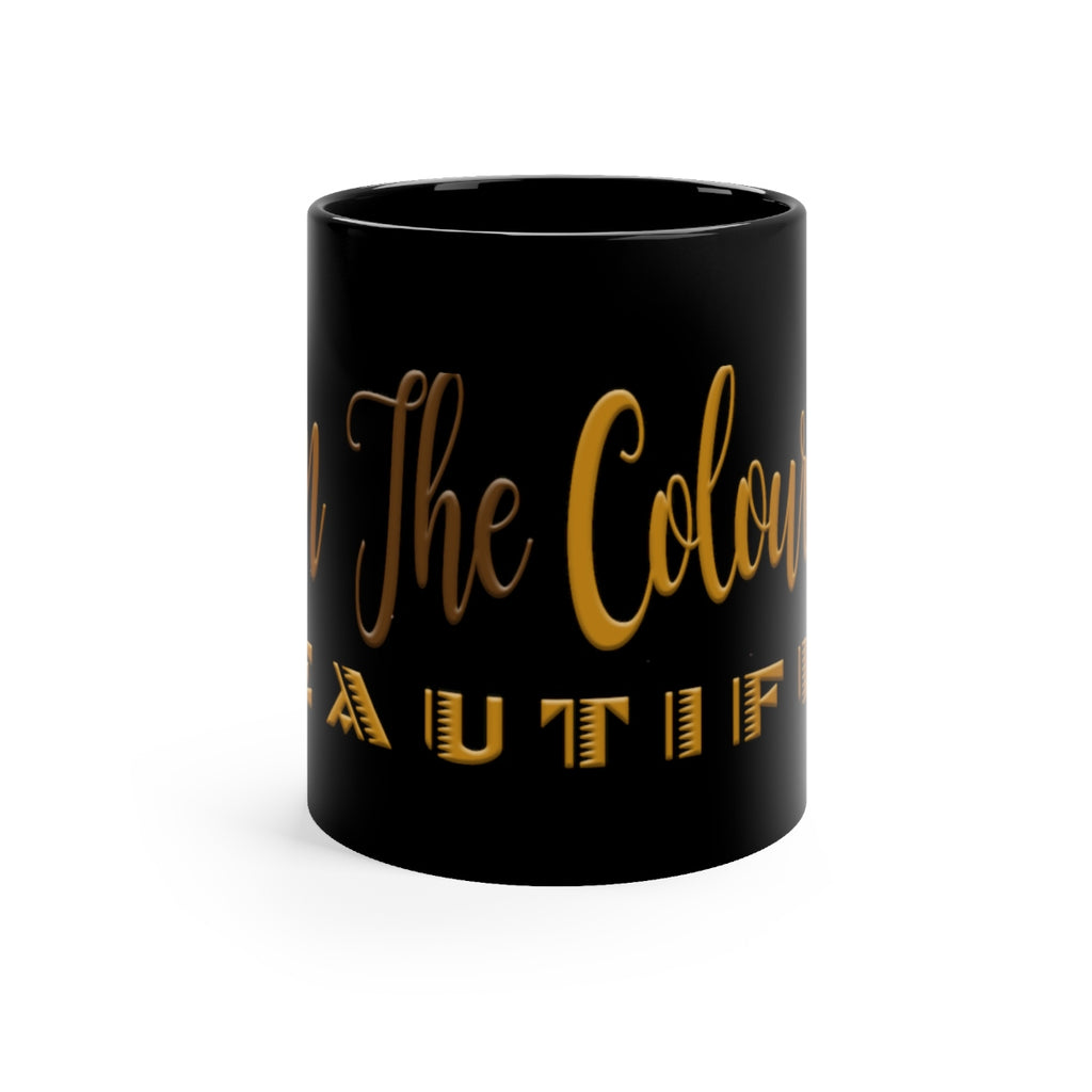 Colour of Beautiful Black mug 11oz
