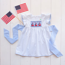 Load image into Gallery viewer, Patriotic Smocked Dress