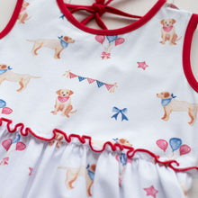 Load image into Gallery viewer, Patriotic Puppy Tier Dress