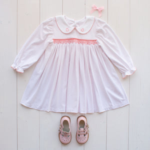Valentines Day Smocked Dress
