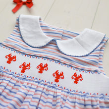Load image into Gallery viewer, Lobster Smocked Dress