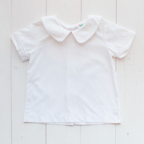 Boys Short Sleeved Poplin Collared Shirt