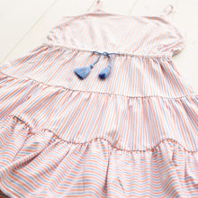 Load image into Gallery viewer, Sail Away Stripe Tier Dress