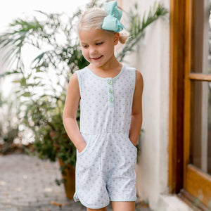Blue Belle Romper