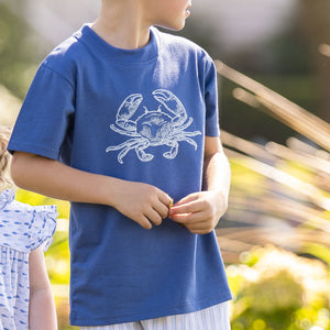 Blue Crab Graphic T Shirt