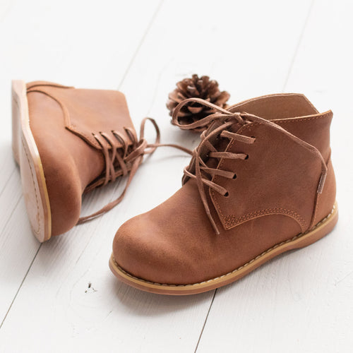 Brown Grayson Booties (Runs Small)
