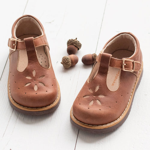 Brown T-Strap Mary Janes (Runs Small)