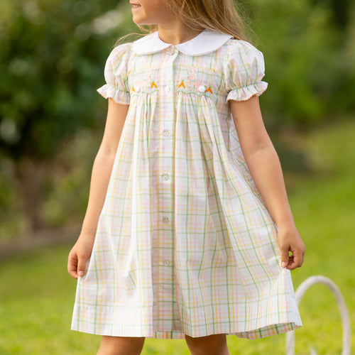 Easter Bunny Smocked Dress
