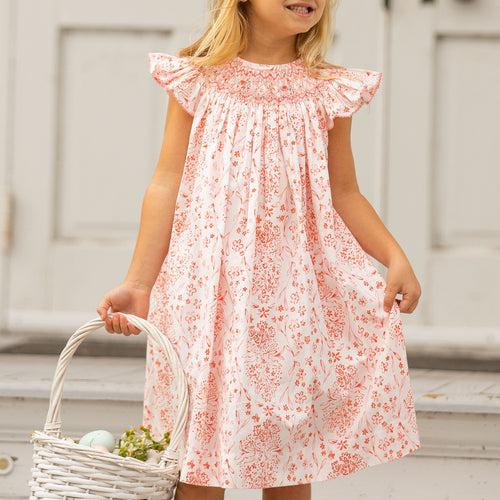 Easter Toile Bishop Dress