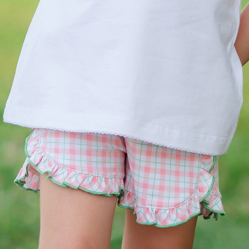 Harbour Island Check Ruffle Shorts