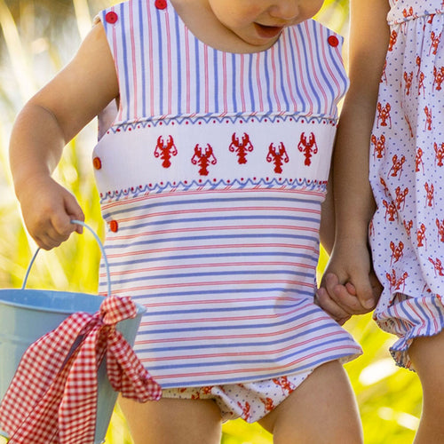 Lobster Smocked Diaper Set
