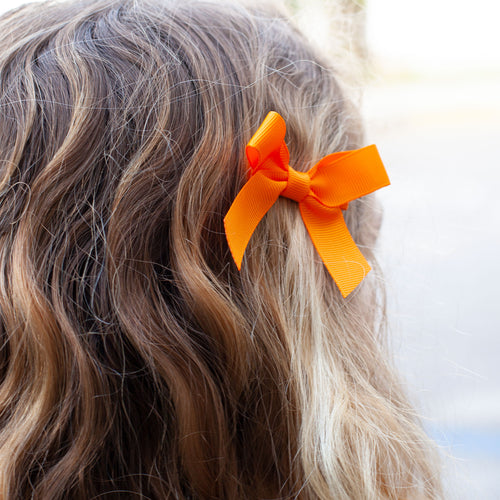 Orange Bitty Bow