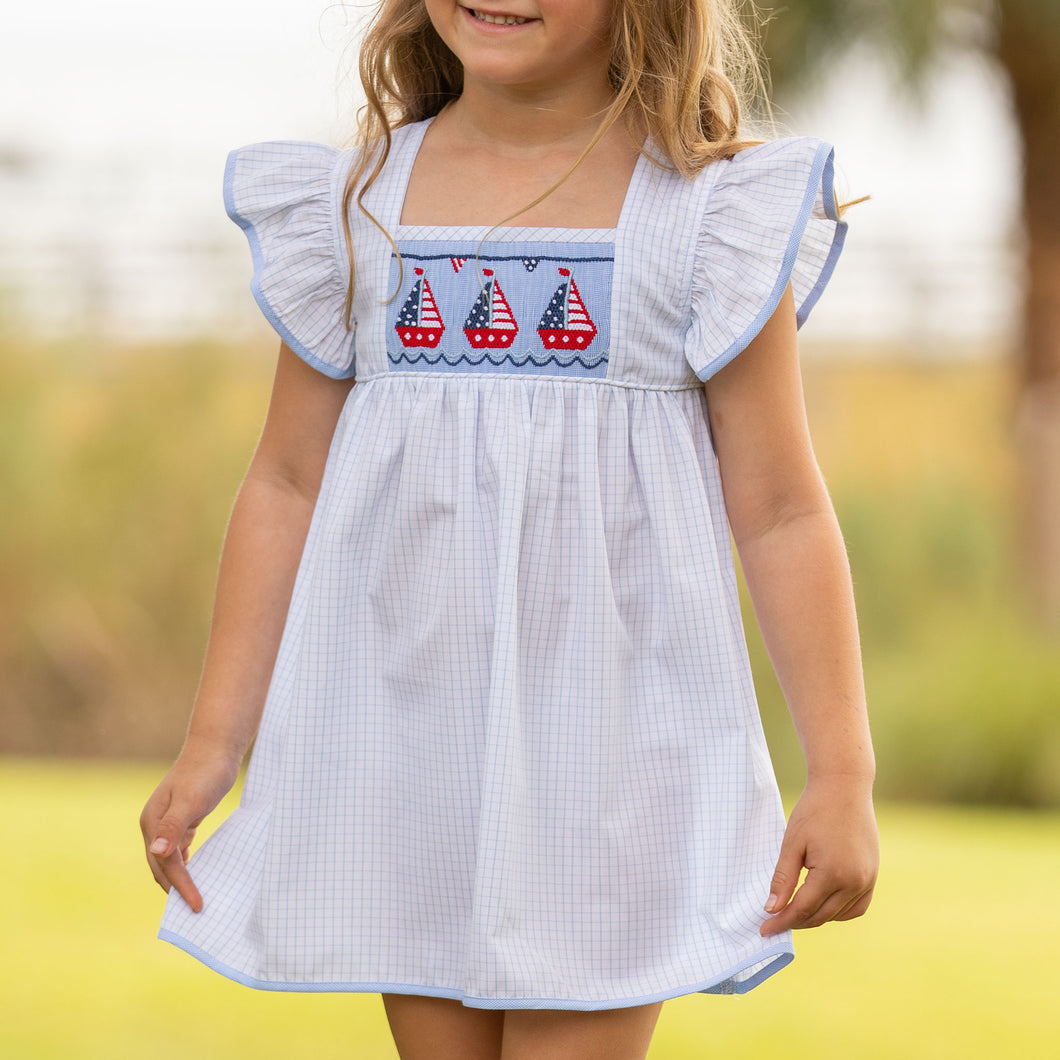 Patriotic Smocked Dress