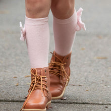 Load image into Gallery viewer, Pink Velvet Bow Socks