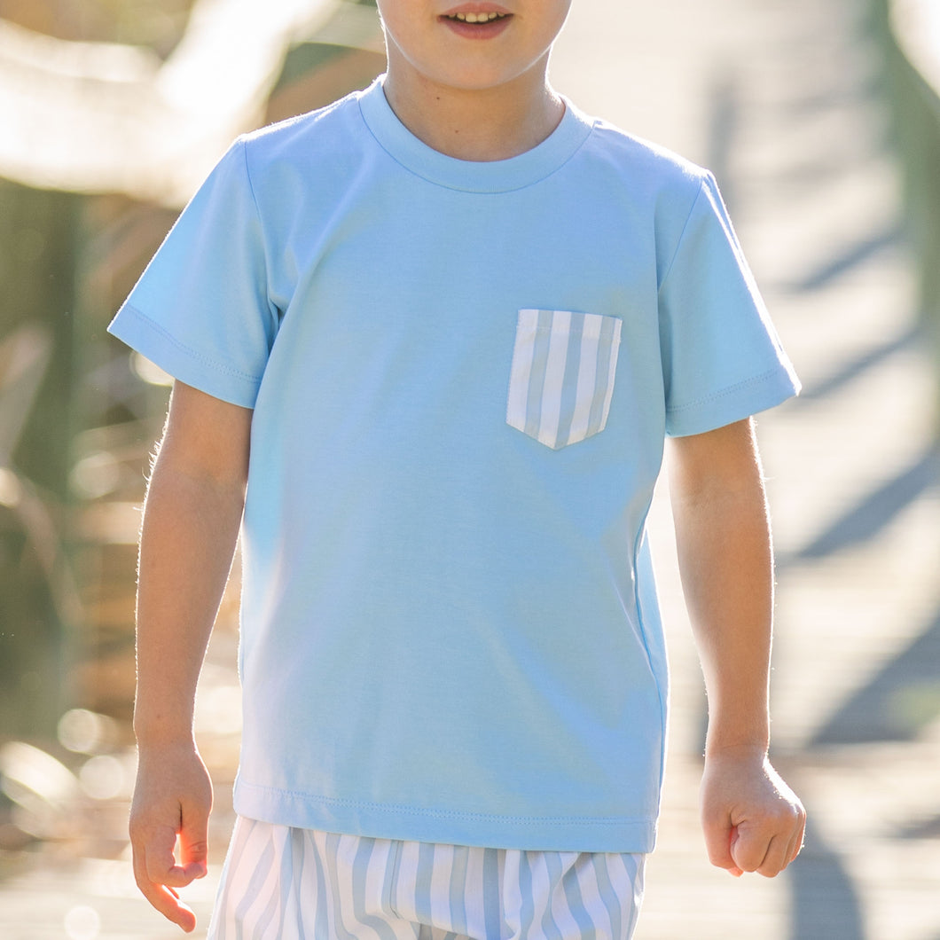 Sailfish Stripe Pocket T Shirt