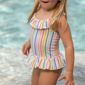 Sorbet Stripe One Piece Bathing Suit