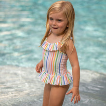Load image into Gallery viewer, Sorbet Stripe One Piece Bathing Suit