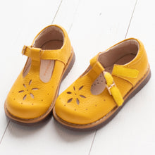 Load image into Gallery viewer, Mustard T-Strap Mary Janes (Runs Small)