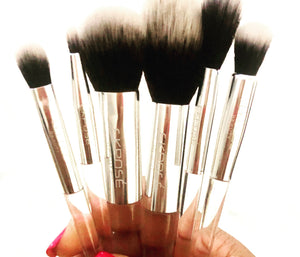 Crystal Clear 6 pc Brush Set