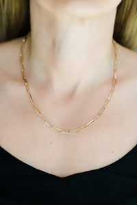 Large Paperclip Necklace