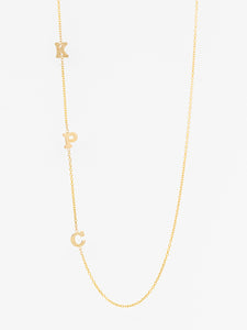 Triple Small Initial Necklace