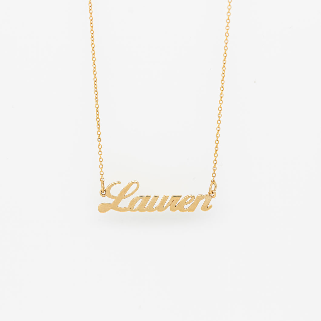 Custom Cursive Name Necklace