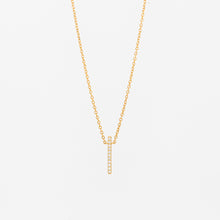 Load image into Gallery viewer, Dainty Diamond Bar Necklace - Vertical