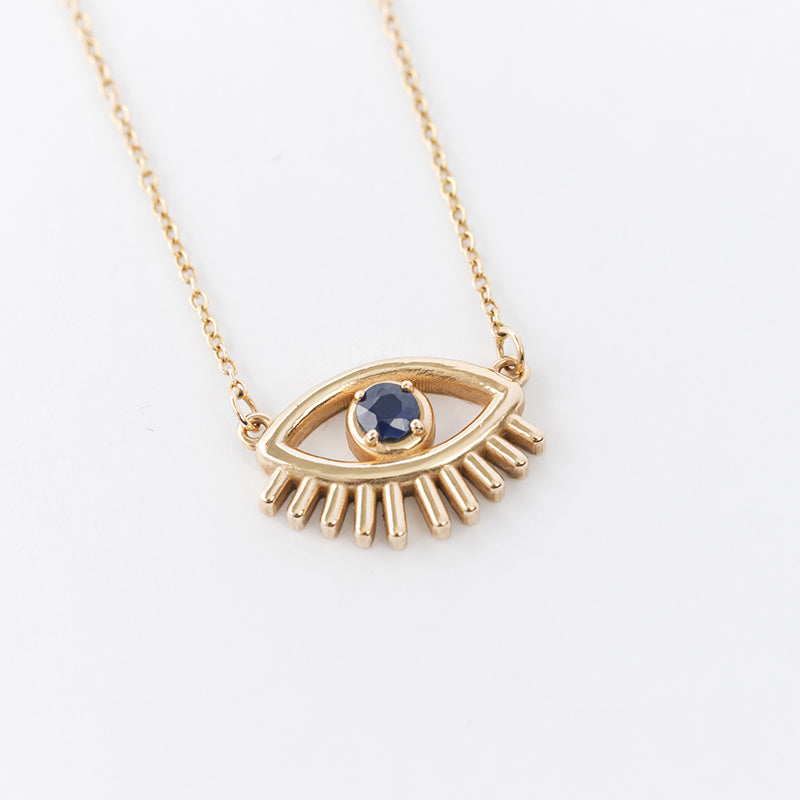 Evil Lashy Eye Necklace