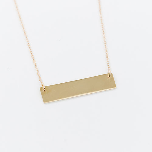 Bar Necklace -Engravable