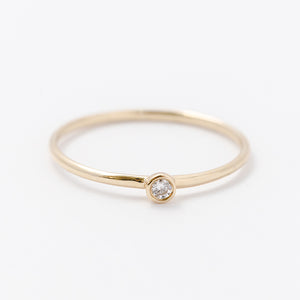 Teeny Round Diamond Ring