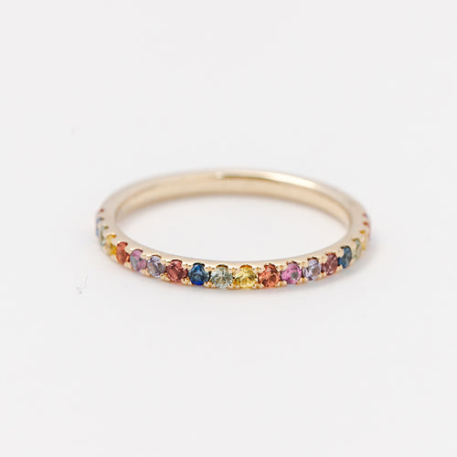 Scattered Rainbow Gem Ring