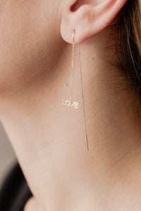 Threader Earring Love