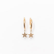 Load image into Gallery viewer, Drop Star Huggie Earring