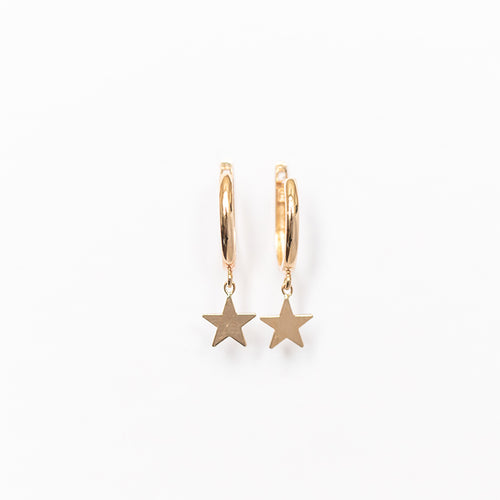 Drop Star Huggie Earring