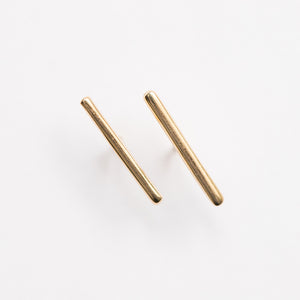 Rounded Bar Long Stud Earring