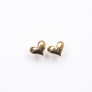 Mini Puff Heart Stud