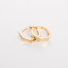 Load image into Gallery viewer, Mini Penta Gold Hoop